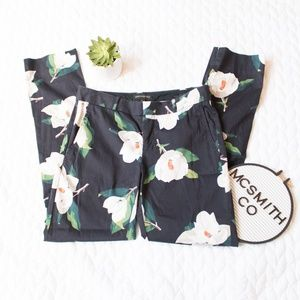 Banana Republic | Navy Ryan Floral Slim Dress Pant